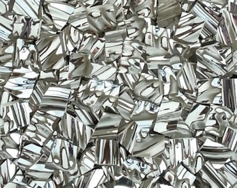 Mosaic Tiles--Reflection Twist- Silver-Textured-50 Tiles