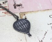 hot air balloon. necklace. silver ox jewelry