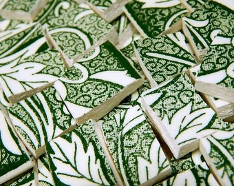 Mosaic Tiles - DaRK GREeN TOiLE - 118 Vintage China Tiles
