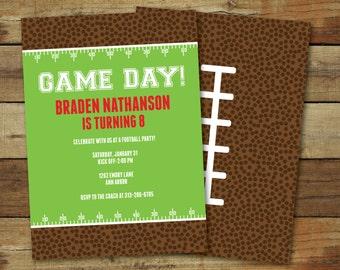 Football birthday party invitation, printable football party invitation, super bowl invitation, super bowl printable, custom invitation