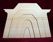 Nativity Stable Stacker, Unfinished Pine