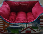 """One Piece  24"""" x 24"""" Dog Bed - Cat Bed  - Personalization included"""