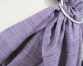 Double Silk Ring Sling Tussah Blend Baby Carrier -Lilac Shadows - DVD included