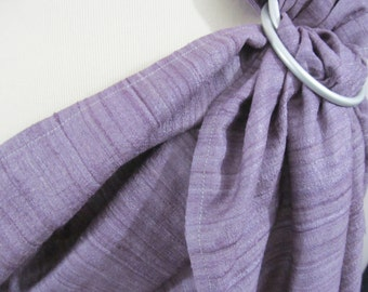 Ring Sling Double Layer Silk Tussah Blend Baby Carrier -Lilac Shadows - DVD included - newborn to tollder sling, support, lavender