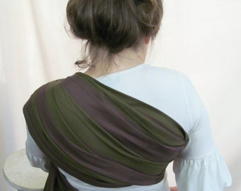 SALE Little Frog Ring Sling Wrap Conversion - WCRS - Twill Weave Pleated Shoulder - DVD included