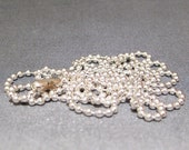 """Sterling Silver 36"""" Long 2mm Ball Chain Necklace"""