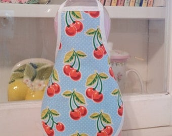 Cherries on Blue - Dish Soap Bottle Apron