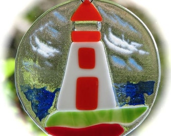 Lighthouse Sun-Catcher Pattern for Fused Glass