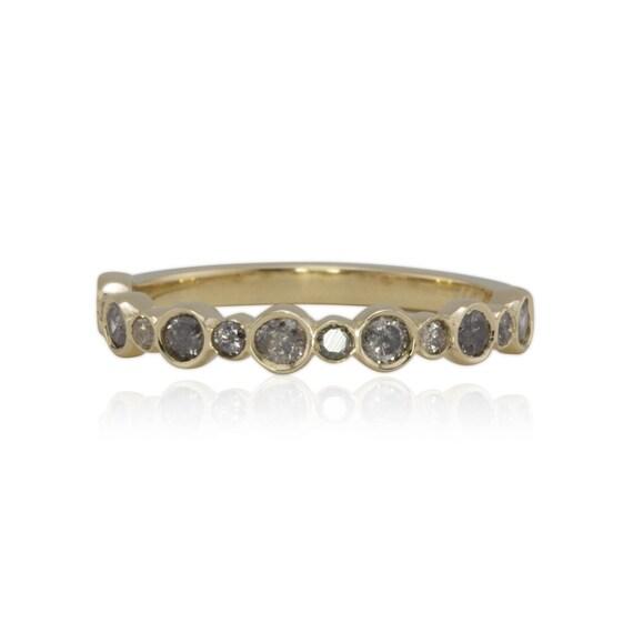 Grey Diamond Wedding Ring Grey Diamond by LaurieSarahDesigns