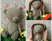 OOAK Handmade 5 inch viscose Teddy bear    William