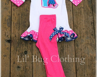 Frozen Anna Elsa Outfit, Anna Elsa Birthday Party Outfit, Boutique Girl Clothes