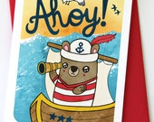 Ahoy Bear - Hello Notecard Greeting Card
