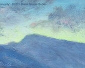 Original miniature landscape -- LUMINOSITY -- oil study by Diana Moses Botkin