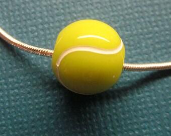 Acrylic Tennis Ball Spacer Bead