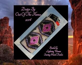 Bead PATTERN Anasazi  Lighter Cover Peyote Brick Stitch