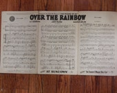 Vintage  1939 Over the Rainbow sheet music