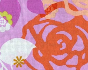 Erin McMorris Weekends Saturday in Pink Large Modern Floral Designer Fabric by the yard