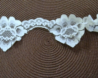 Vintage Trim White Lace 3 inches Wide 3 yards long