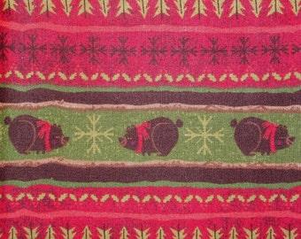 Christmas Bear Snowflake Fabric 3 7/8 yards