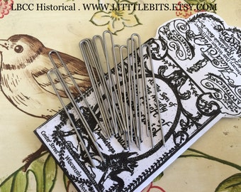"""Long 2.5"""" Steel Hair Pins For Historical Hair Styling"""