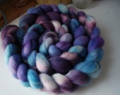 Corriedale Roving/ Top, Hand Dyed Wool for Spinning  and Felting, Domestic Corriedale Fiber, 4 oz  COR0027