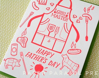 Father's Day Letterpress Card Grill Master