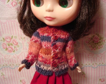 Blythe Fair Isle Sweater and Socks for Pullip and Vintage Skipper Too