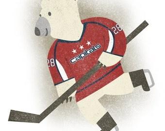 Hockey Bear - Print