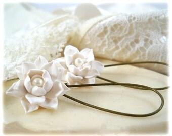 Lotus Dangle Earrings - Lotus Drop Earrings