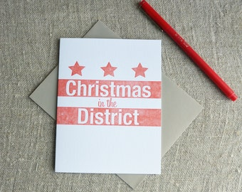 Letterpress Christmas Card - Local Love Christmas in the District