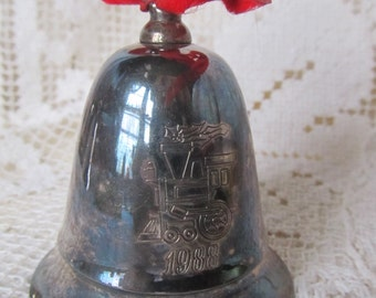 Vintage 1988 Kirk Stieff Train Musical Bell