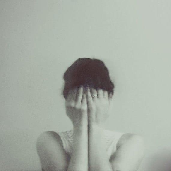 Minimal Portrait, Female Figure, Emotional Photograph, Soft Grey, Ethereal, Dreamy Photo, Modern Home Decor
