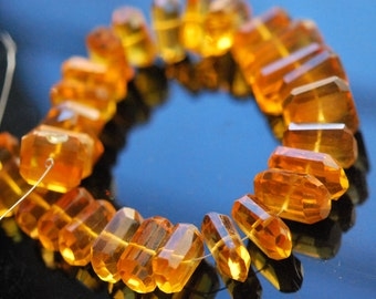 Gorgeous honey colored hydro quartz  nuggets