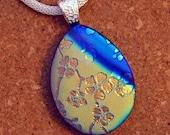 Dichroic Pendant - Fused Glass Pendant - Dichroic Necklace - Dichroic Jewelry - Glass Pendant
