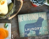 Newfoundland Laundry Company illustration graphic art on canvas panel  by stephen fowler
