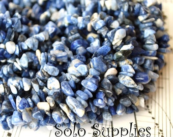 36 Inches Sodalite Chip Beads