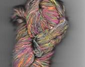 Handspun silk Tutti Fruity yarn