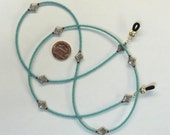 Turquoise and Silver Eyeglasses Chain