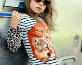 Poor Pitiful Pearl Little Girls' One of a Kind Hippie/Bohemian WildCat Upcycled Top