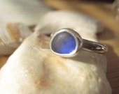 Blue...blue sea glass ring