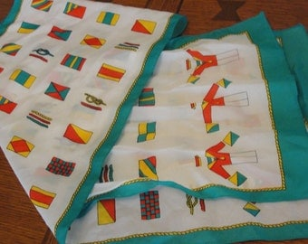 Vintage Nautical Flag  Rectangle Scarf