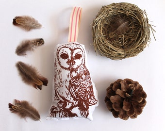 Brown Barn Owl Lavender Bag