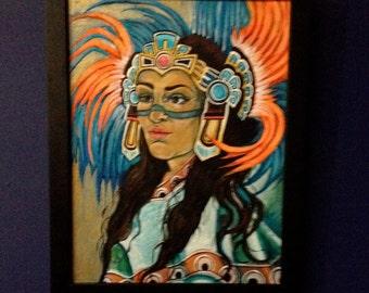 Day of the Dead Aztec Women original painting SALE!