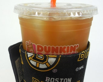 Boston Whats Up Your Sleeve Reusable Fabric Coffee Sleeve Boston Bruins