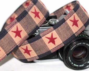 Patriotic Camera Strap - Retro Star camera Strap