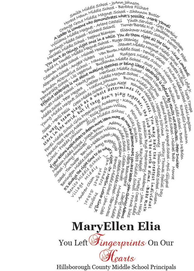 fingerprint design personalized teacher gift up to by