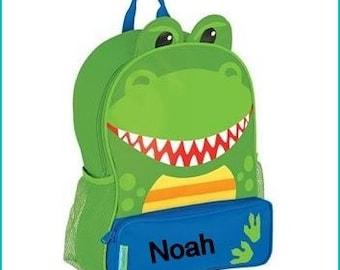 Personalized Dino,Dinosaur Sidekick, School Book bag, Toddler Backpack, Diaper Bag, Children's Monogramed Backpack, Girl Backpack,School Bag