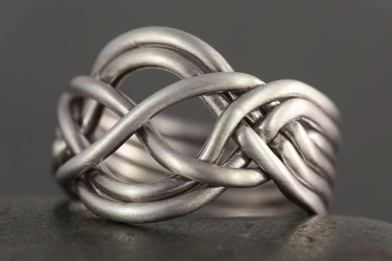 6 band puzzle ring in sterling silver - More options available