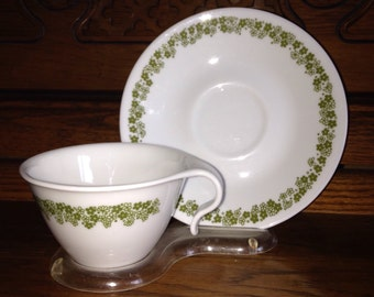 Corelle Crazy Daisy Teacup and Saucer