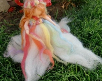 May Maiden Spring- Waldorf-inspired needle felted soft sculpture - Made to order
